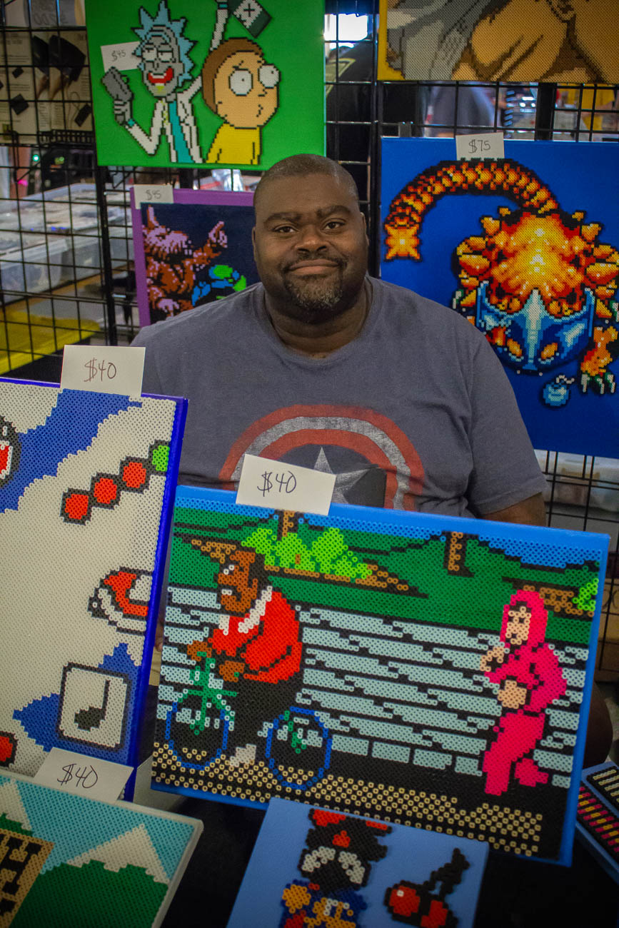 Terrence Davis with Legenerdy Creations / Image: Katie Robinson, Cincinnati Refined // Published: 5.19.19