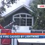 Two house fires caused by lightning