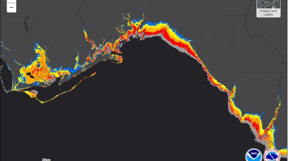 Interactive Map Of Florida.Interactive Map Shows Storm Surge Potential For Florida From Michael
