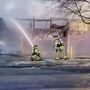 Iowa City FD responding to large fire at warehouse