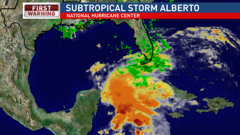 Sub-tropical Storm Alberto first named storm of the 2018 season