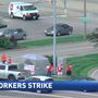 AT&T employees walk off job as part of a labor strike