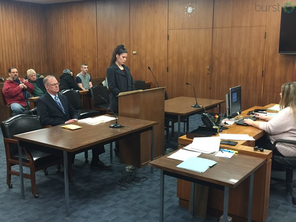 Twenty-eight-year-old Katie Leuenberger, the mother of a 3-year-old boy who was beaten to death, faced a judge for arraignment. (Photo: WEYI/WSMH)