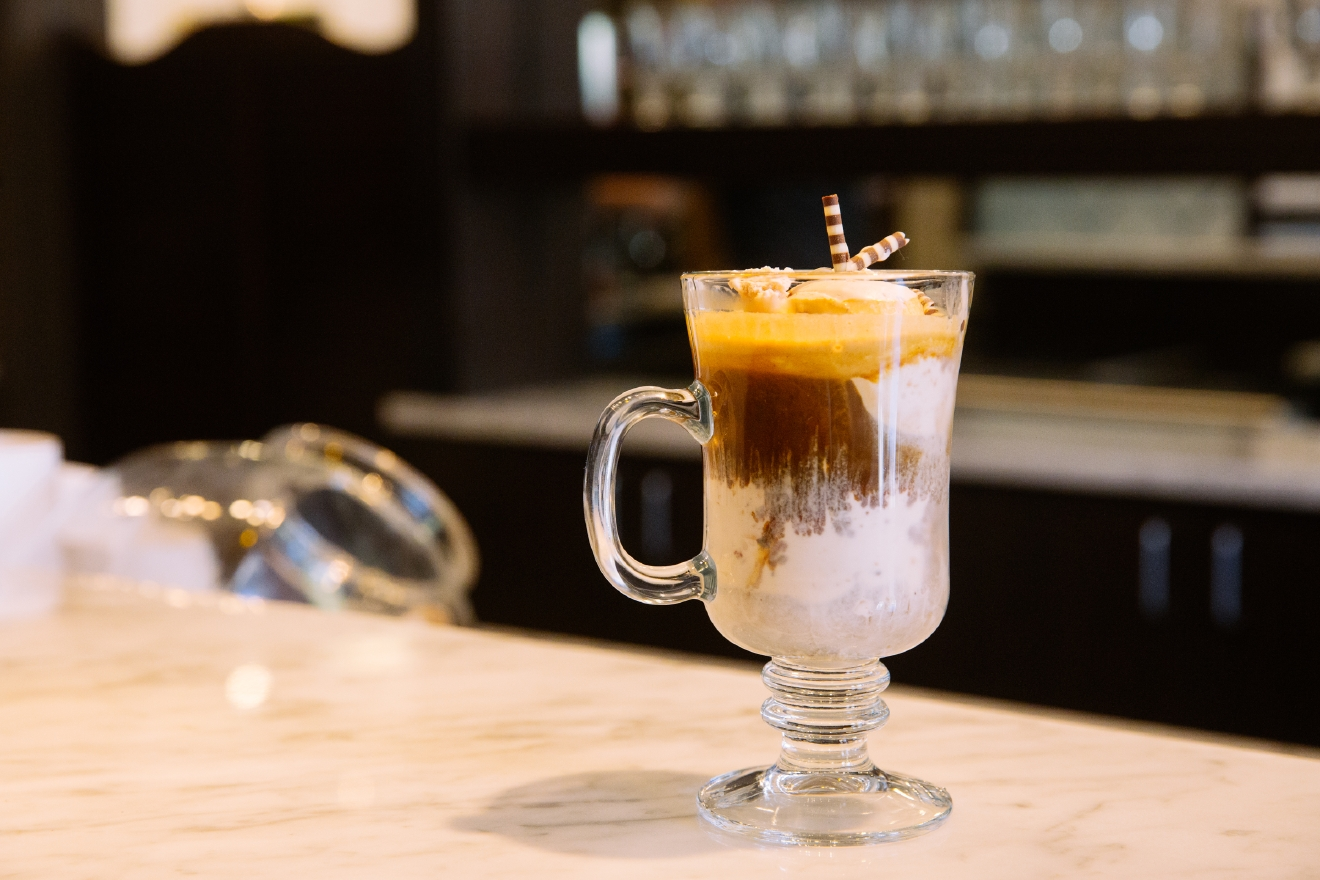 This delicious combination has a name: Affogato. The dreamlike desert is an Italian delicacy but you can find it in Washington. Kirkland, in fact. Sirena's Gelato has expanded their gelato shop into a chic and ample affogato bar (Image: Joshua Lewis/Seattle Refined).