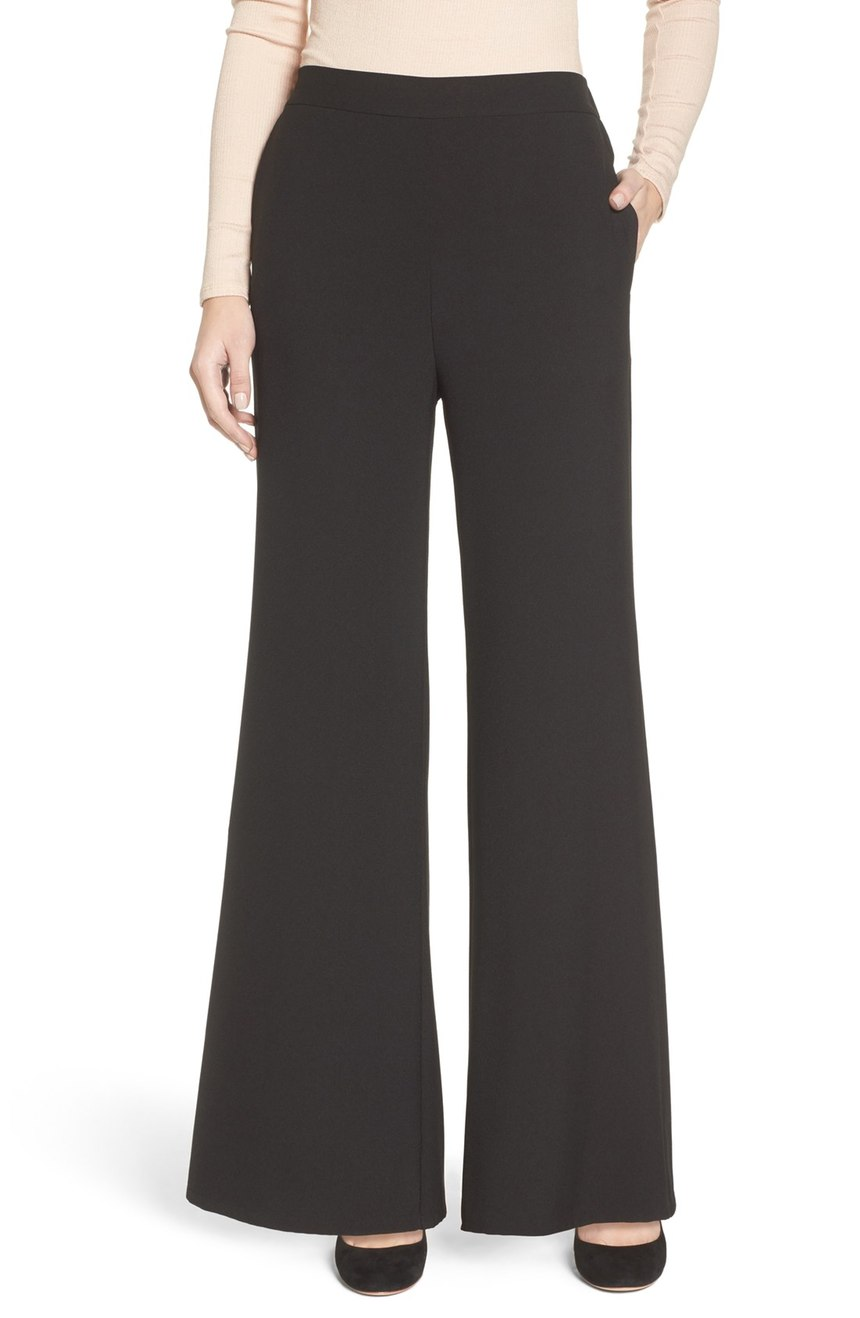 While skinny jeans surely won't disappear, retailers have forecasted a sizable shift in coming seasons toward the wide-leg look.  Try these Leith, Wide Leg Pants ($65.00).  (Image: Nordstrom)