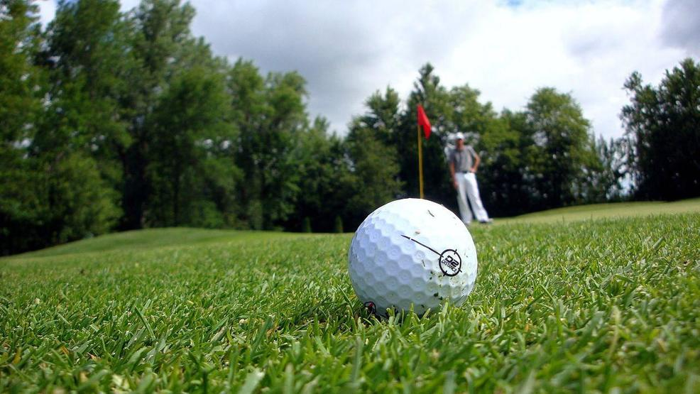 A golf ball can be seen near a green.  Photo Shawn Carpenter  - CC BY-SA 2.0 -  MGN    .jpg