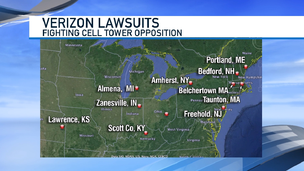 Verizon defends cell phone tower lawsuit | WWMT on