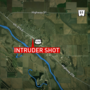 Police say resident reported shooting intruder