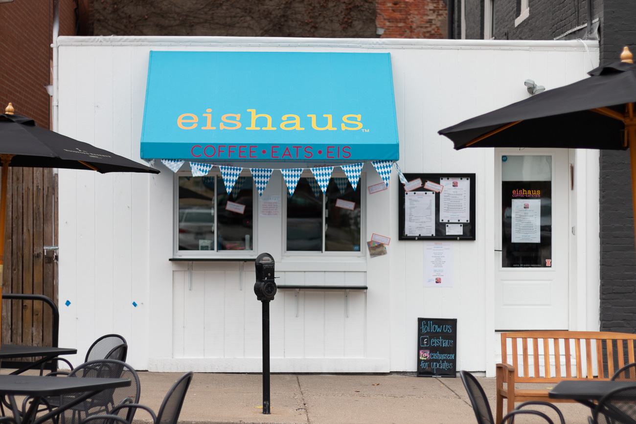 Eishaus is a Covington ice cream shop that specializes in German-style spaghetti ice cream along with La Terza Artisan Coffee, pastries, and vegan-friendly items. The owners were inspired by family recipes as well as eiscafés they'd frequent while visiting their family in northern Germany. It was at these ice cream parlors where they'd enjoy spaghettieis—a dish made to look like spaghetti by pressing vanilla ice cream through a modified potato ricer. They knew they wanted to introduce their favorite dessert to Covington and opened the shop near the corner of Court Street and Park Place in September 2020. ADDRESS: 117 Park Place (41011) / Image: Mike Menke & Lacey Keith // Published: 10.26.20