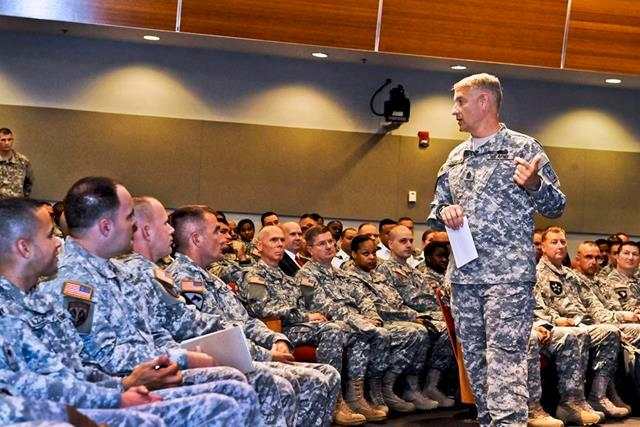 Sgt. Maj. of the Army Raymond F. Chandler III asked senior noncommissioned officers to think about core values & ask themselves if they were willing to guide their charges through some of the Army's biggest challenges.