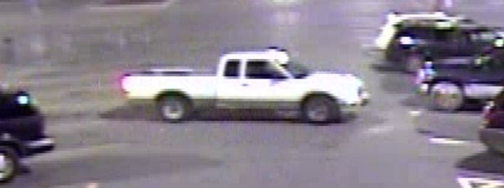 A surveillance video picked up an image of the vehicle police believe was used by three suspects who walked out of the Paw Paw, Michigan, Walmart store with a cart full of unpaid items. (Contributed)<p></p>