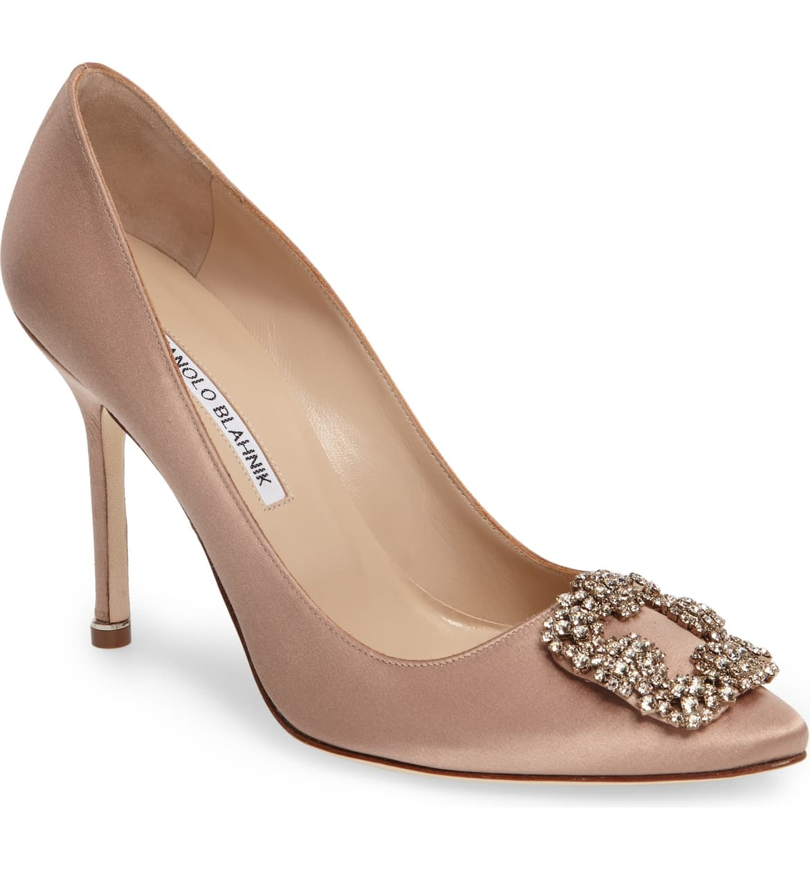 "<a  href=""https://shop.nordstrom.com/s/manolo-blahnik-hangisi-jewel-pump-women/3169518/full?origin=keywordsearch-personalizedsort&breadcrumb=Home%2FAll%20Results&color=flesh%20satin"" target=""_blank"" title=""https://shop.nordstrom.com/s/manolo-blahnik-hangisi-jewel-pump-women/3169518/full?origin=keywordsearch-personalizedsort&breadcrumb=Home%2FAll%20Results&color=flesh%20satin"">Blahnik 'Hangisi' Jewel Pump - $995</a>. From cozy to gold hued to tailored, Nordstrom has the hottest trends for getting glam this holiday season! (Credit: Nordstrom)"