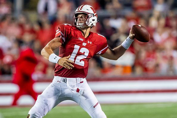Alex Hornibrook threw for 257 yards and two touchdowns.