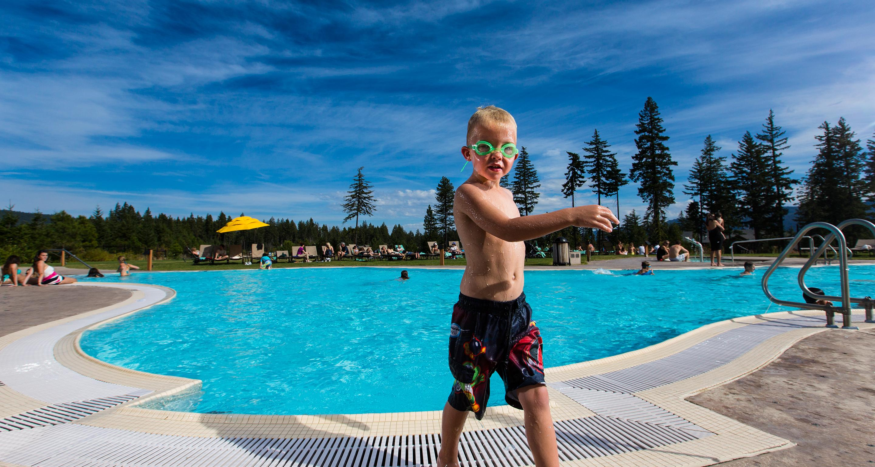 CampCadia makes use of the resort's fun activities – including the pool!