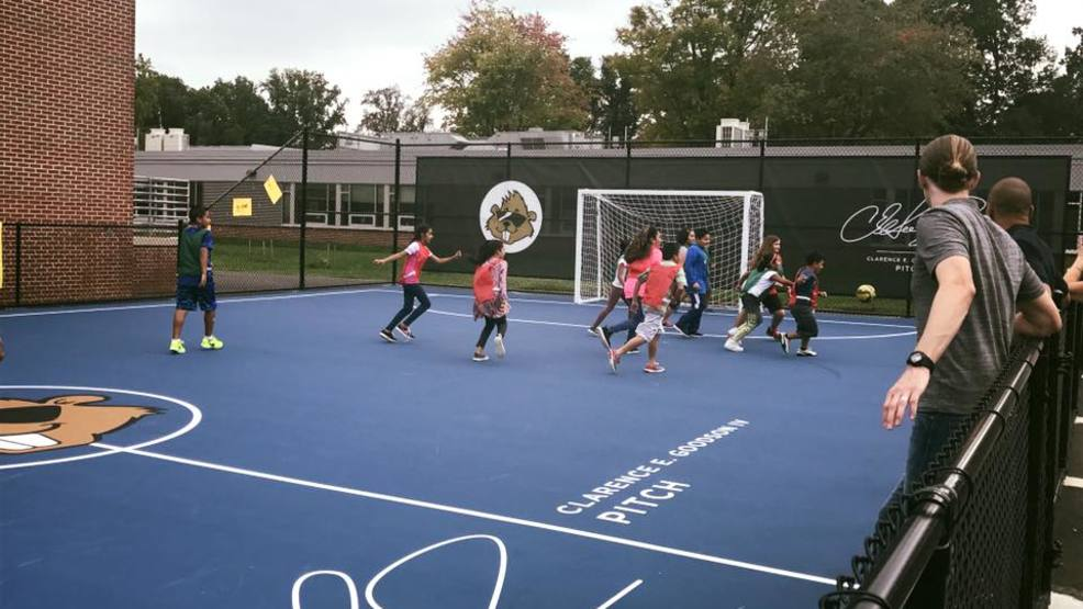 Field of dreams: Soccer star builds field at hometown school in Virginia