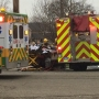 4 sent to hospital after two car crash in Kalamazoo