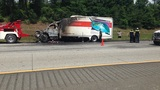 Truck fire causes massive traffic backup on I-75S