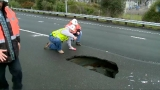 California Highway Patrol names giant sinkhole 'Steve'
