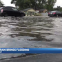"Nearly 5"" of rain in about 1 hour leads to street flooding"