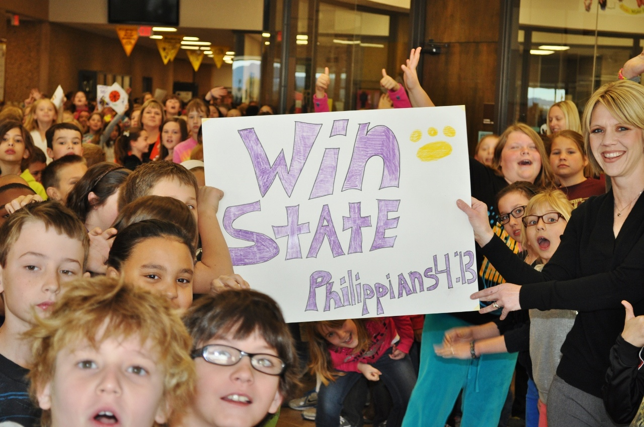 Students showed support for Wylie basketball players during a send-off Wednesday. The Bulldogs (34-4) are headed to Austin to compete in the state basketball tournament.Photo by Kerr Broadstreet/WylieSports.com