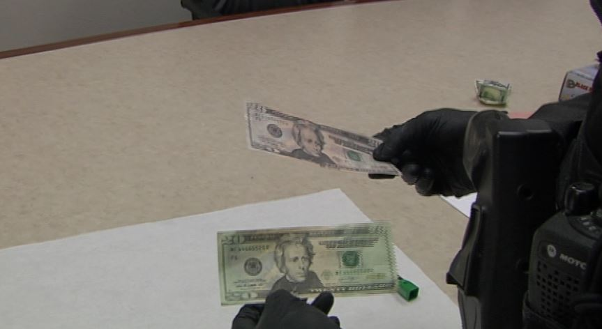 "Most of the counterfeit bills are being intercepted by banks after coming through business drops.That means someone accepted the bill at a store or restaurant - and maybe made change.""A lot of those bills are $50s and $100s,"" Looney said, ""and a lot of those are being used to purchase inexpensive items so that can legitimate, genuine currency back."" (SBG)"
