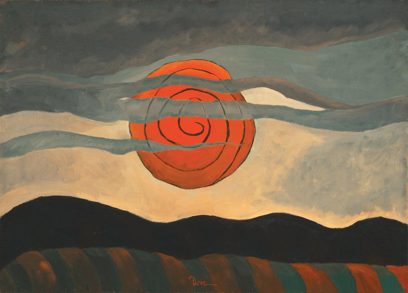 'Red Sun' (1935) by Arthur Dove / Image courtesy of the Taft Museum of Art // Published: 5.1.19