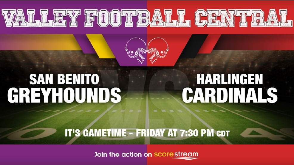 Listen Live: San Benito Greyhounds vs. Harlingen Cardinals