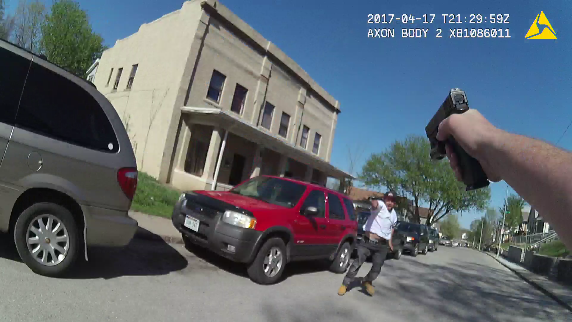 The Omaha Police Dept. releases pictures of the body camera from an officer involved shooting.  (Courtesy: Omaha Police Dept.)