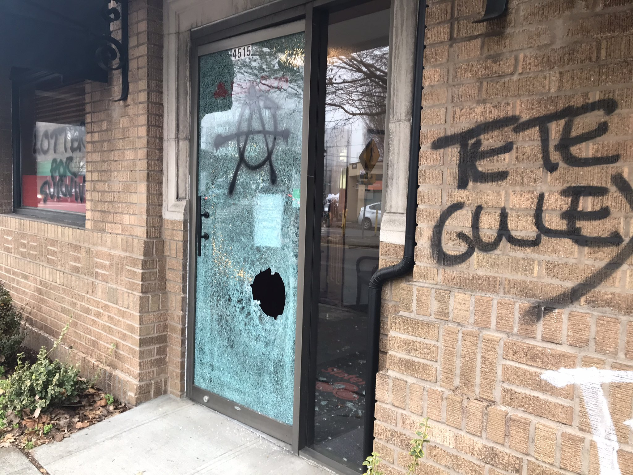 Police said a group of about 50 people vandalized businesses along Northeast Sandy Boulevard on Friday night, Nov. 20, 2020 (KATU){ }