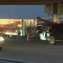 Tractor trailer crash shuts down lanes on I-95 at Lantana