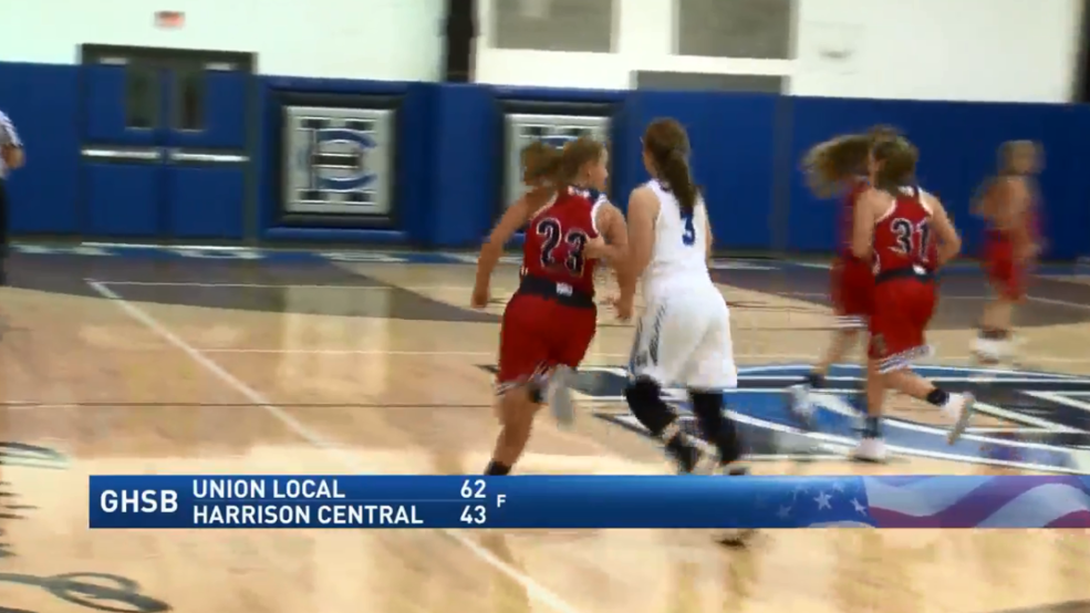 12.8.17 Highlights - Union Local vs Harrison Central - girls basketball