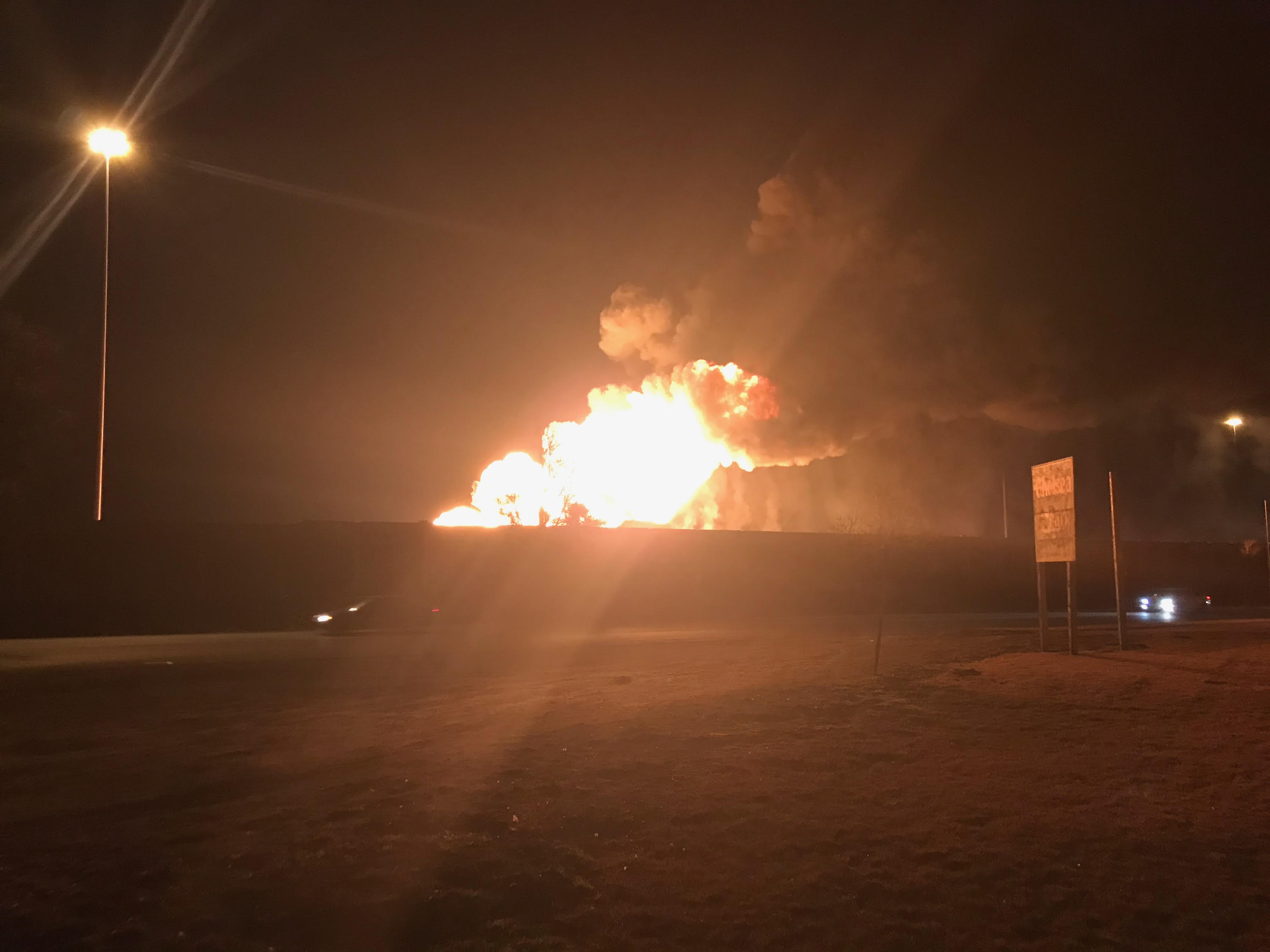 Double tanker vehicle explodes, closes I-15 (Photo: Matt Gephardt / KUTV)