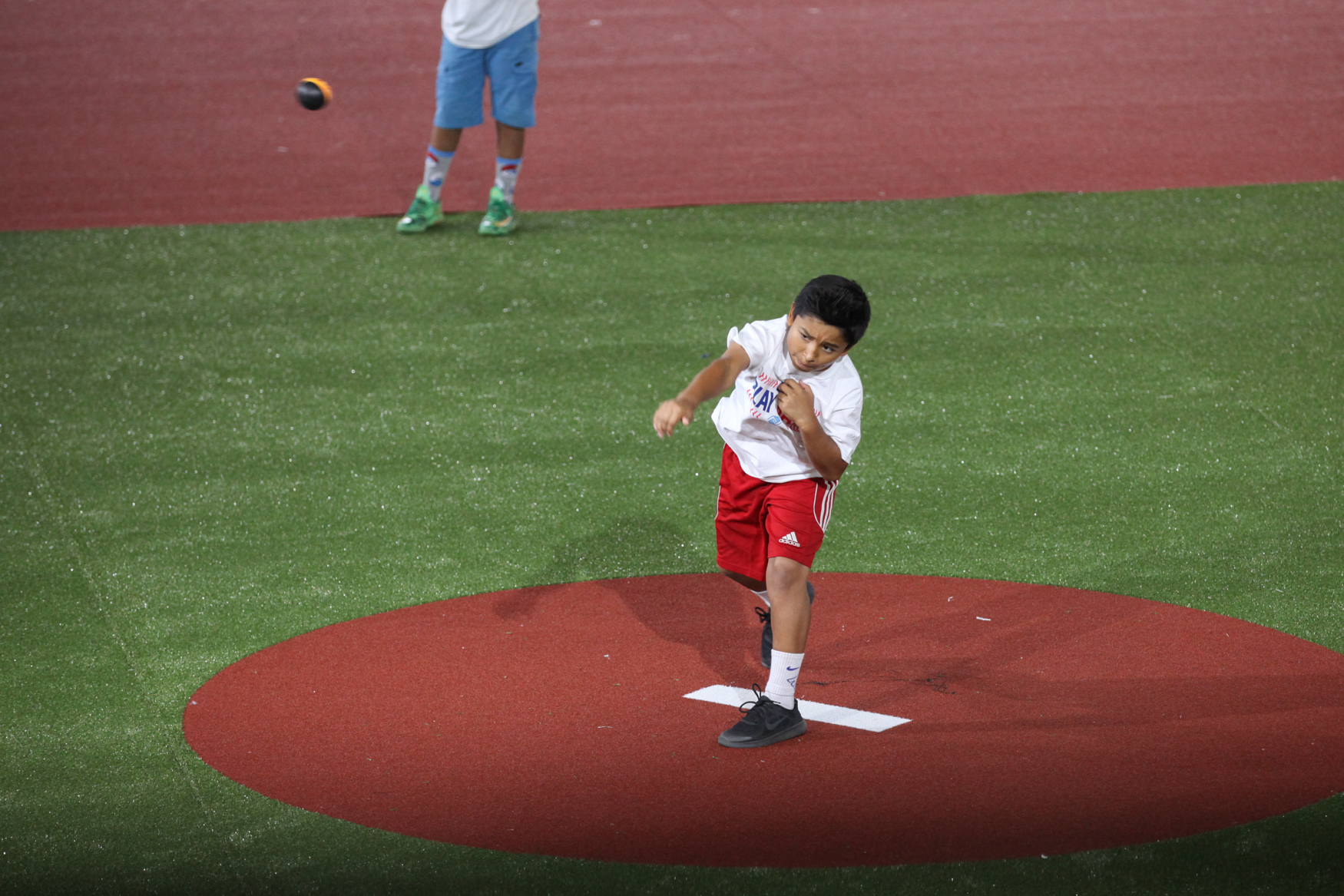 One of the main attractions is the Play Ball Park, which gives kids a taste of what it's like to stand on the pitch. (Amanda Andrade-Rhoades/DC Refined)