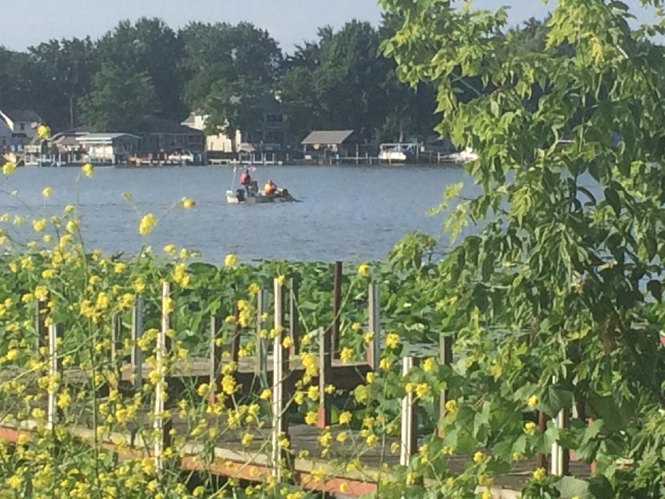 Washington Township emergency crews responded to the scene off Shoreland Avenue shortly after 7 a.m. on a call of a jet ski found running in the water but with nobody on it. (WNWO)