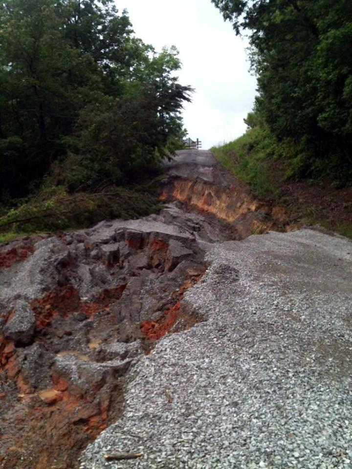 County Road 950 on Smith Lake in Cullman County..or what's left of it... photo from @blw_83