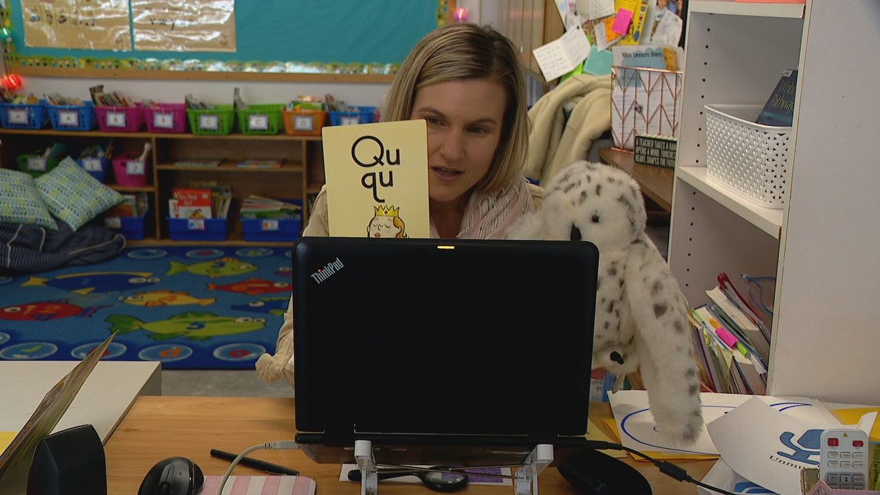 Buncombe County Schools officials said, because of COVID-19, kindergarten tours are going to be virtual this year. (Photo credit: WLOS staff)