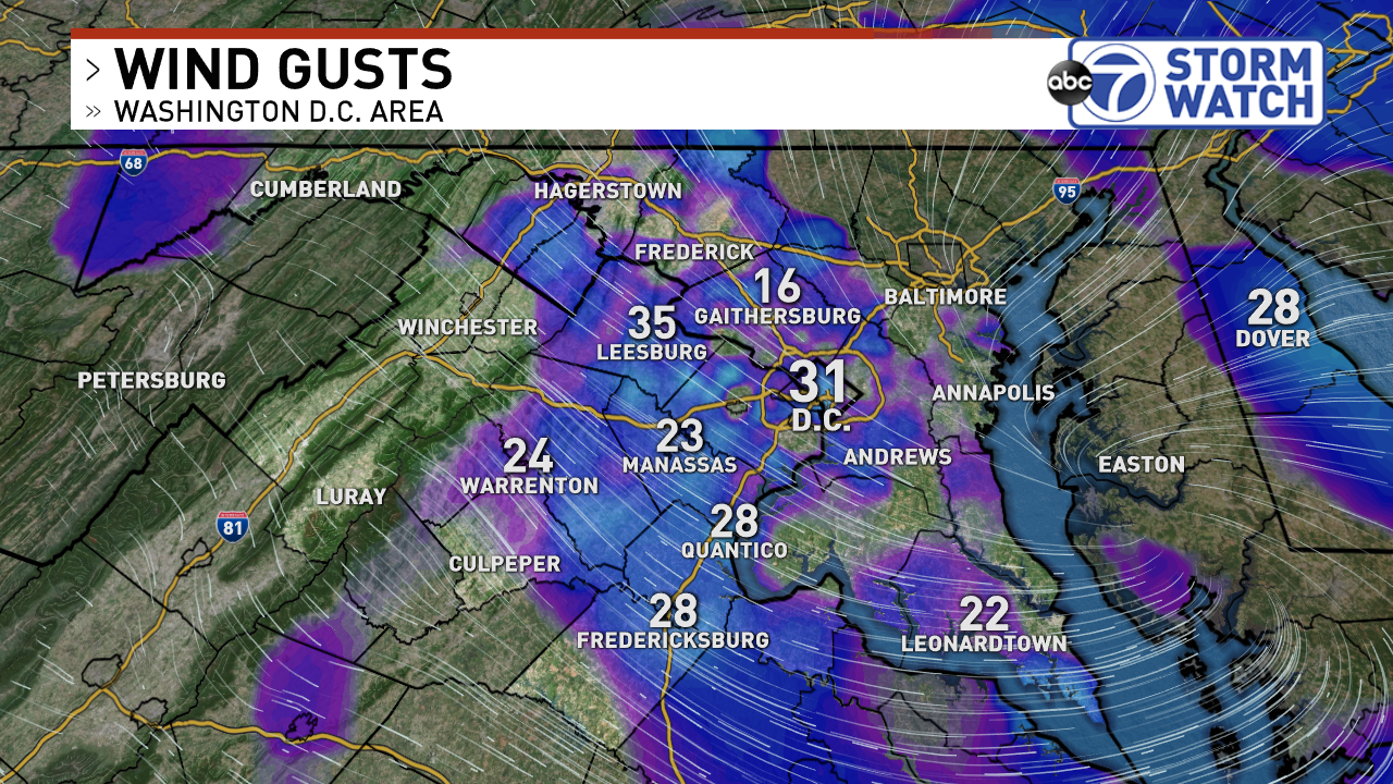 Gusts Thursday Night at 9PM<p></p>