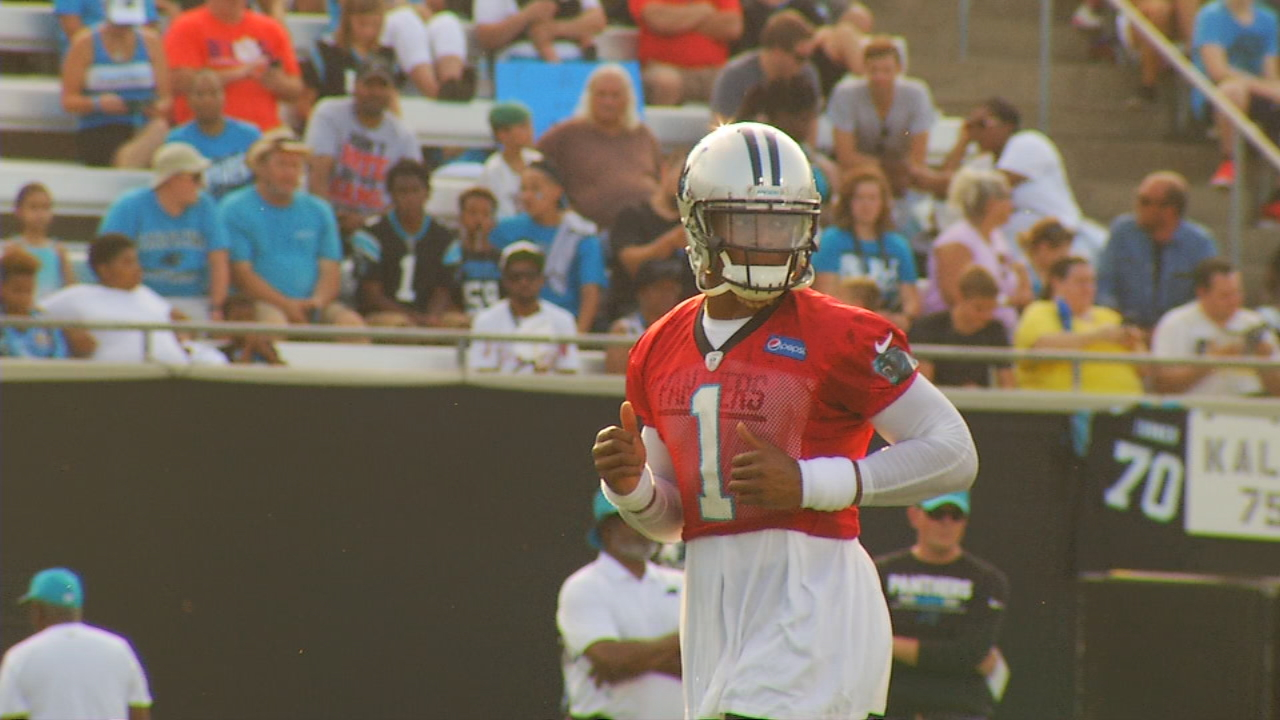 Cam Newton has made some changes in his attitude this offseason, and he hopes that trickles down to his teammates. Cam said he's determined to make 2017 a bounce back season for the Carolina Panthers. (Photo credit: WLOS Staff)