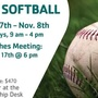 Coed slow-pitch softball sign-ups underway in Douglas County