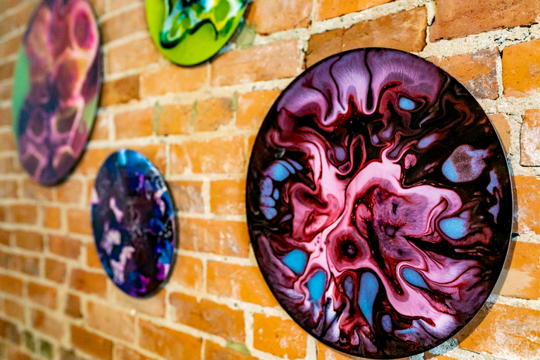 Modern art pieces by Banz Studio, located on Fourth Street, Downtown Cincinnati / Image: Amy Elisabeth Spasoff // Published: 8.1.18