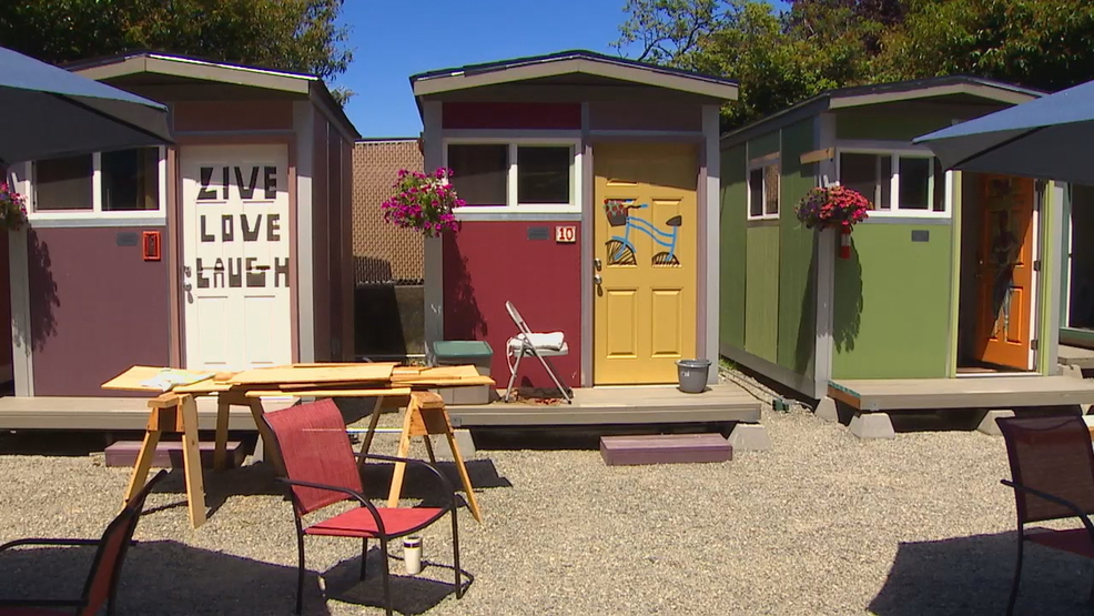 Photos Tiny House Seattle Wa: Seattle's First Tiny House Village For Homeless Women To
