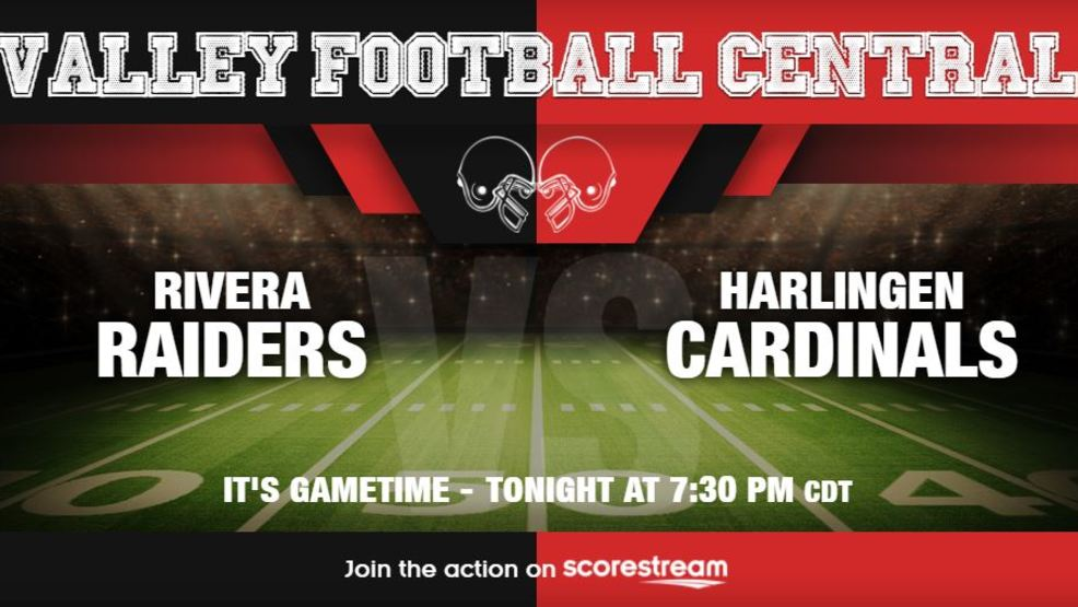 Listen Live: Brownsville Rivera Raiders at Harlingen Cardinals