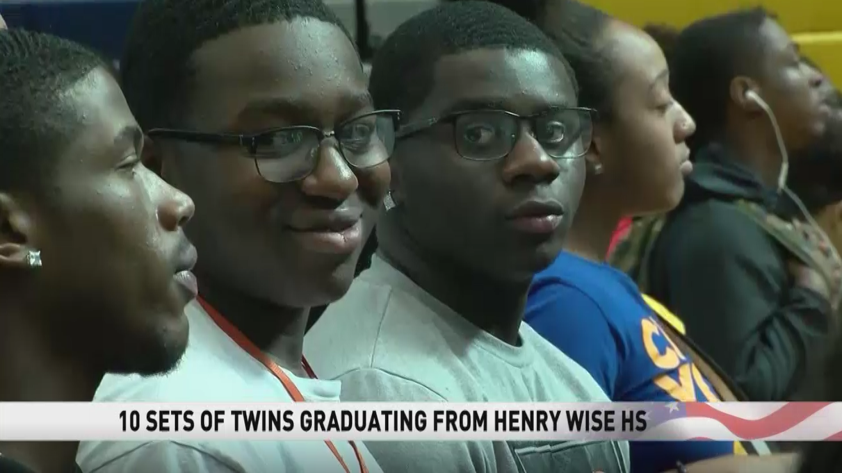 Twenty graduates of the 2018 senior class at Henry Wise High School in Upper Marlboro, Maryland are twins. (ABC7)