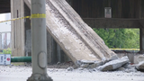 Video shows moment railroad bridge partially collapsed in Syracuse