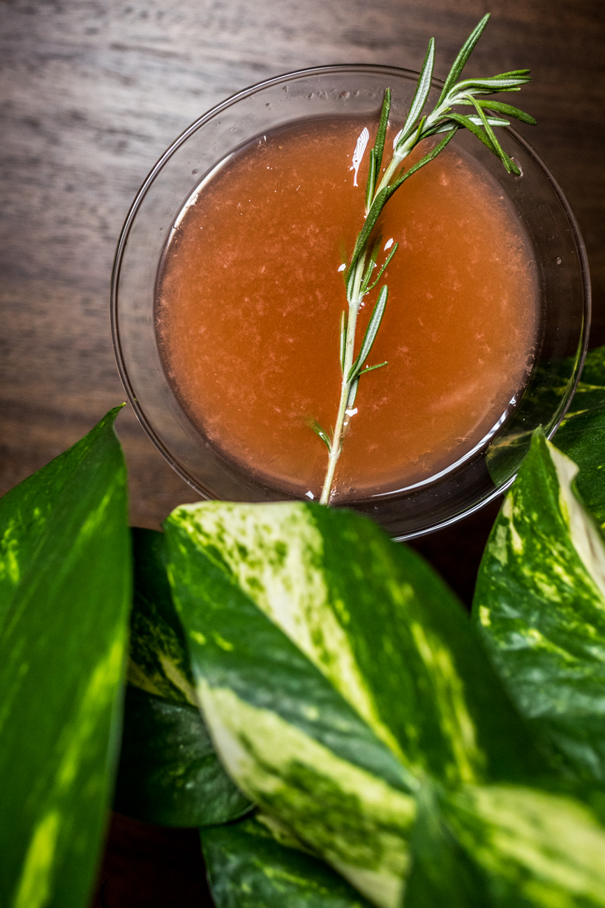 Dear Rosemary: gin, grapefruit, rosemary infused honey syrup, Aperol, and fresh rosemary / Image: Catherine Viox // Published: 7.18.20