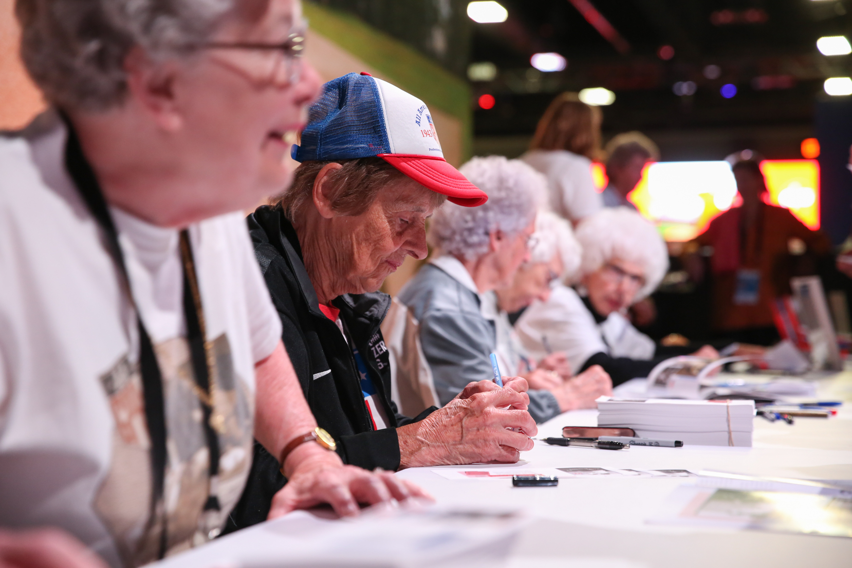 The women who helped inspire the movie 'A League of Their Own' are prominently featured at FanFest, offering up autographs and inspiration for the young women and girls.{ } (Amanda Andrade-Rhoades/DC Refined)