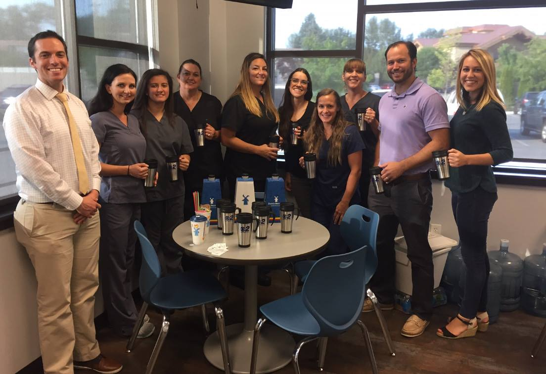 Mugshot Mondays: This week's winner is Whitewater Oral Surgery in Boise! Bryan Levin & Kelsey Anderson helped deliver free Dutch Bros. Coffee and KBOI mugs!Want your business to be next? Enter: http://bit.ly/1UoKo3X