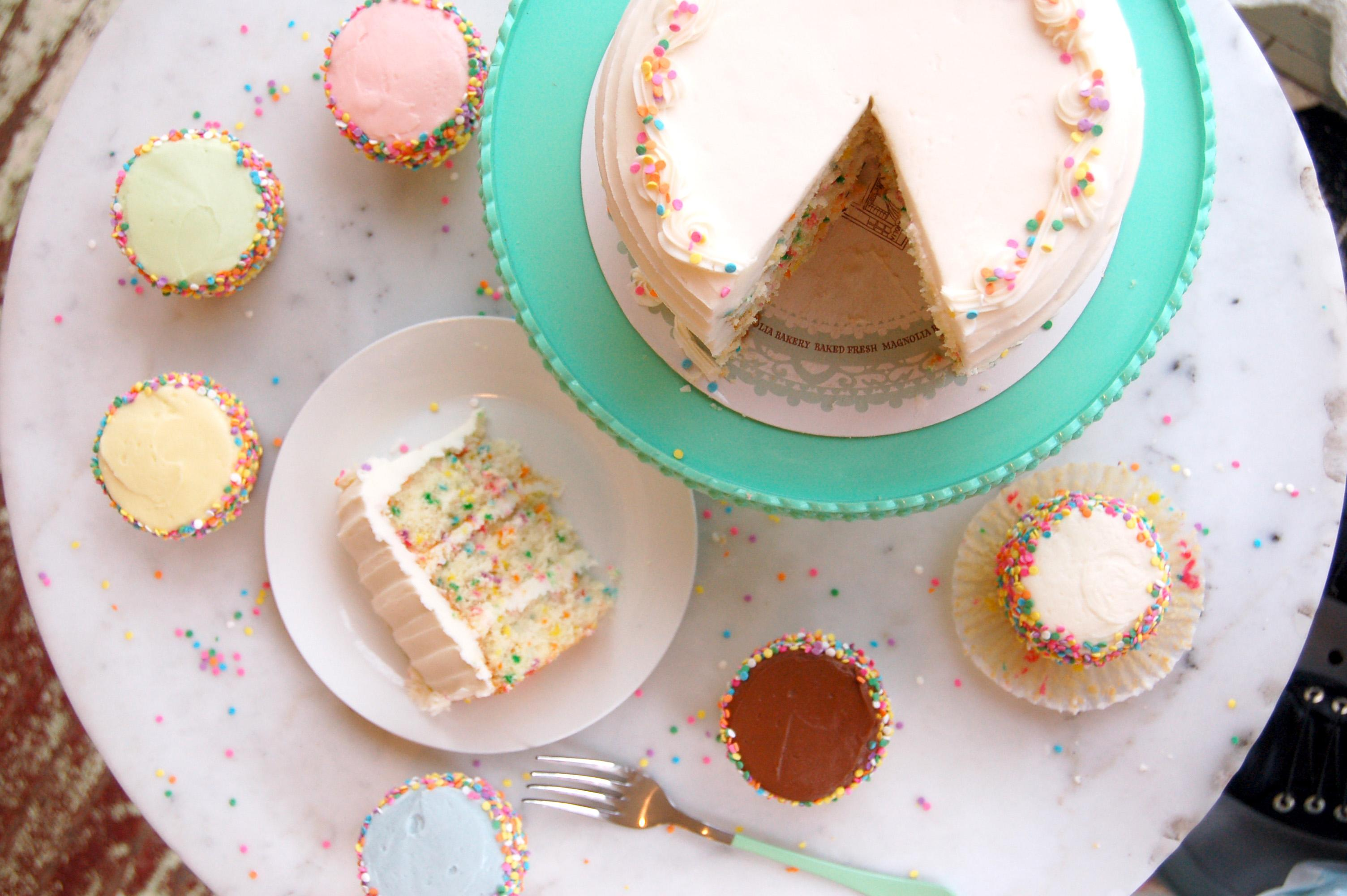This storied New York City sweet spot became famous for its cupcakes, but there's so much more going on here. (Image:  Courtesy Magnolia Bakery)