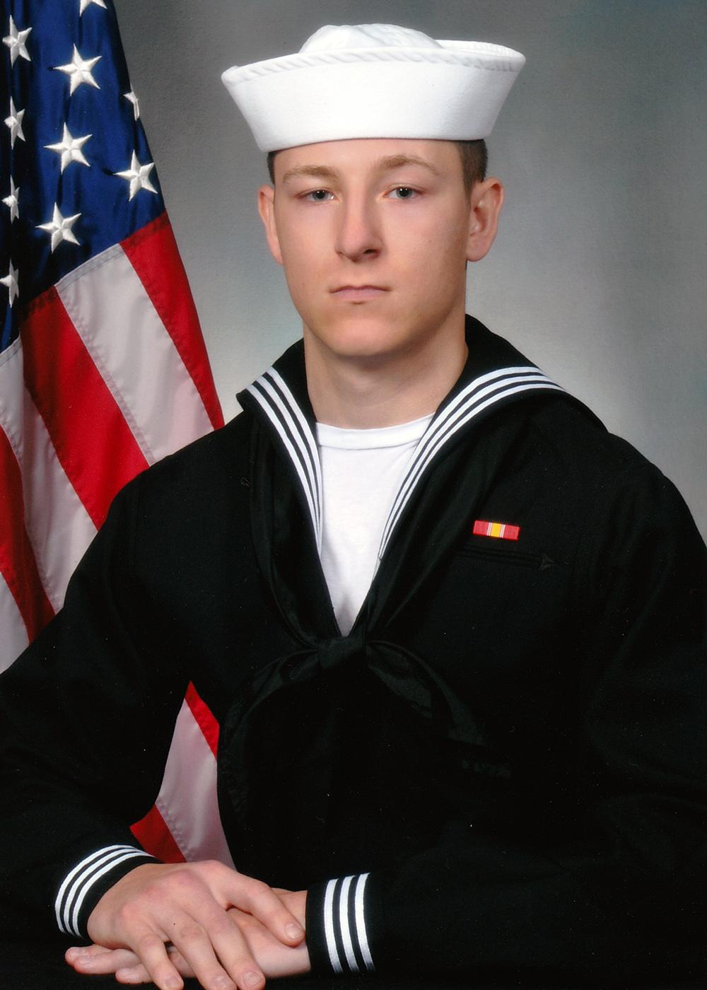 U.S. Navy file photo of Electronics Technician 3rd Class Kenneth Aaron Smith, 22, from Cherry Hill, New Jersey, who was stationed aboard USS John S. McCain (DDG 56) when it collided with the Liberian-flagged merchant vessel Alnic MC, Aug. 21. Ten Sailors subsequently went missing. Smith?s remains were recovered by U.S. Navy and Marine Corps divers who will continue search and recovery efforts inside flooded compartments in the ship for the missing Sailors.  (U.S. Navy photo/Released)