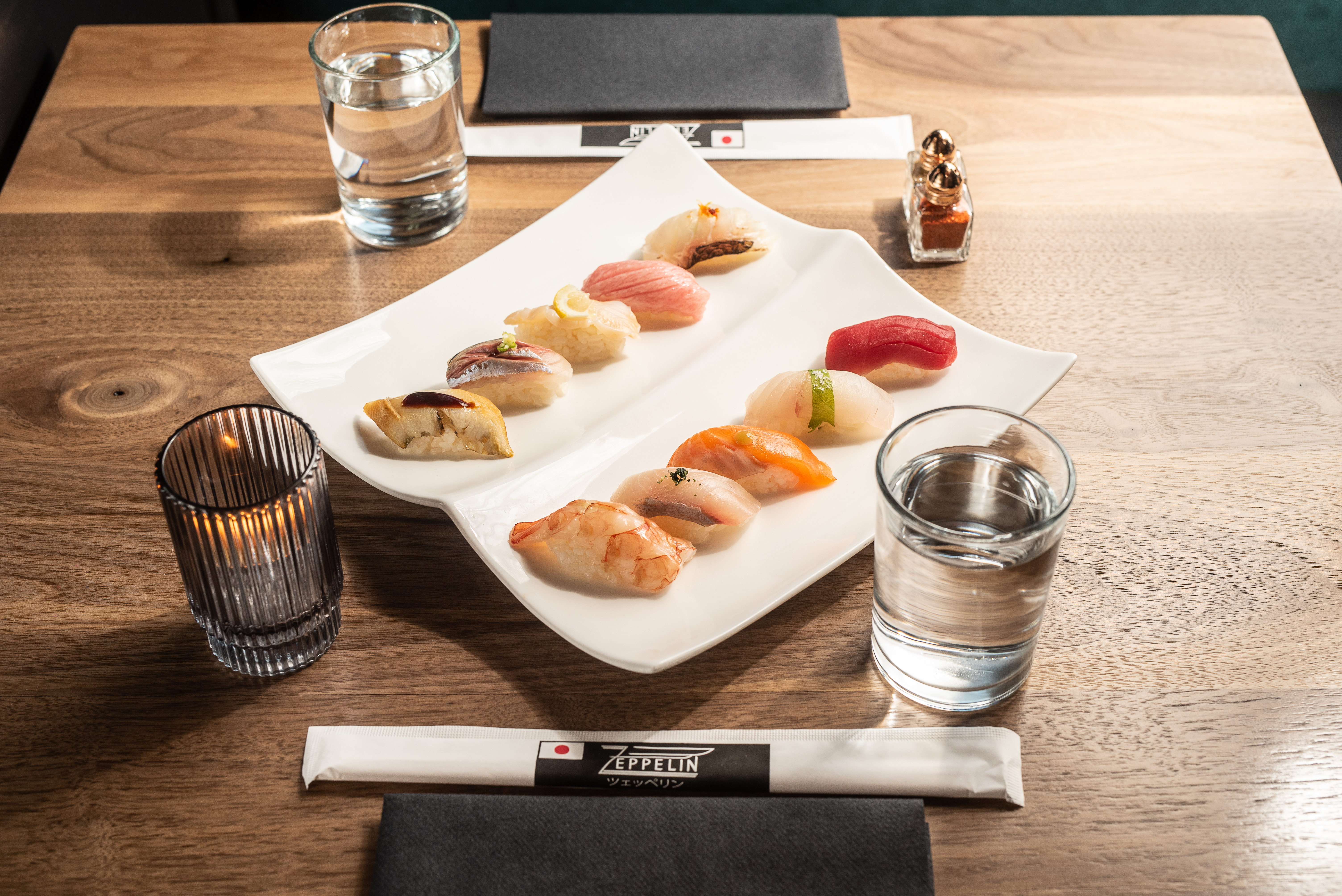 At this brand new Japanese street food and omakase restaurant in the heart of Shaw, the sushi options are fantastic. (Image: Robert Fairbairn/Zeppelin)